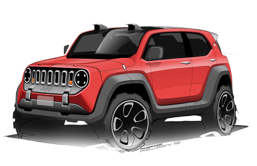 jeep renegade design sketches auto express. Black Bedroom Furniture Sets. Home Design Ideas