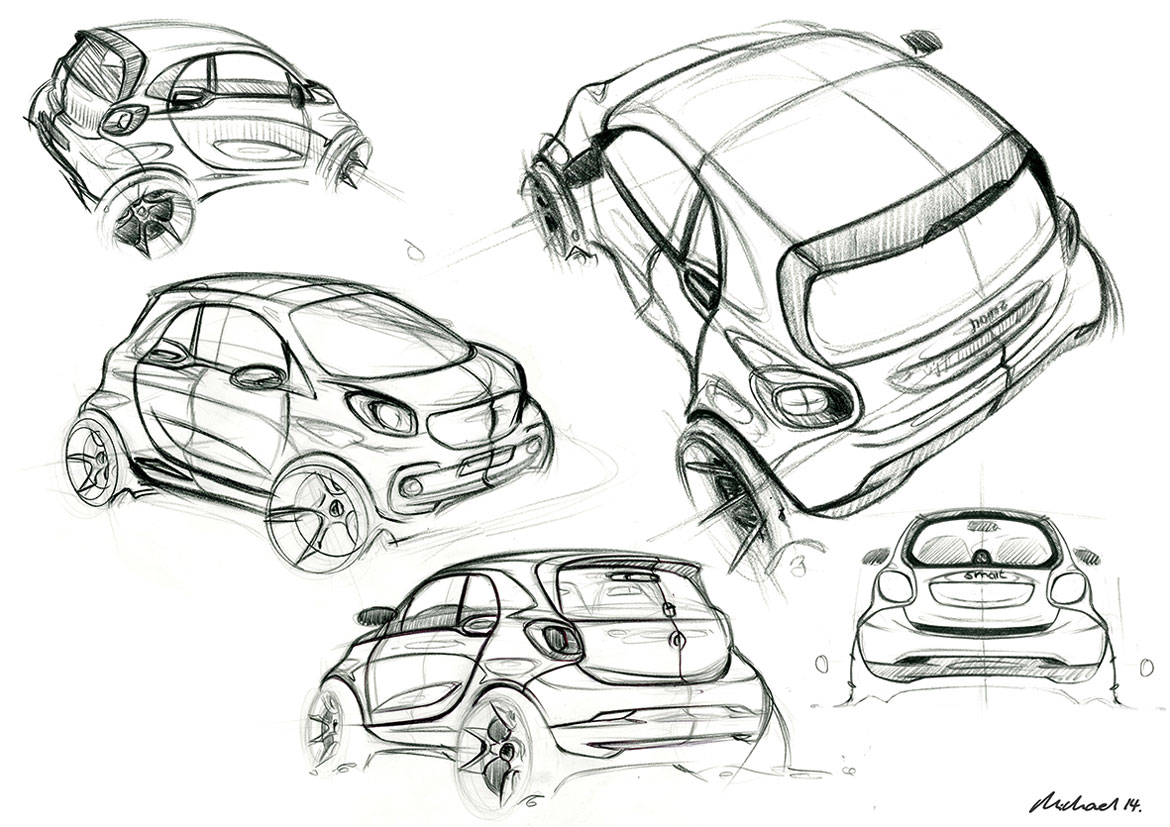 Smart fortwo passion and reason auto design for Exterior car design