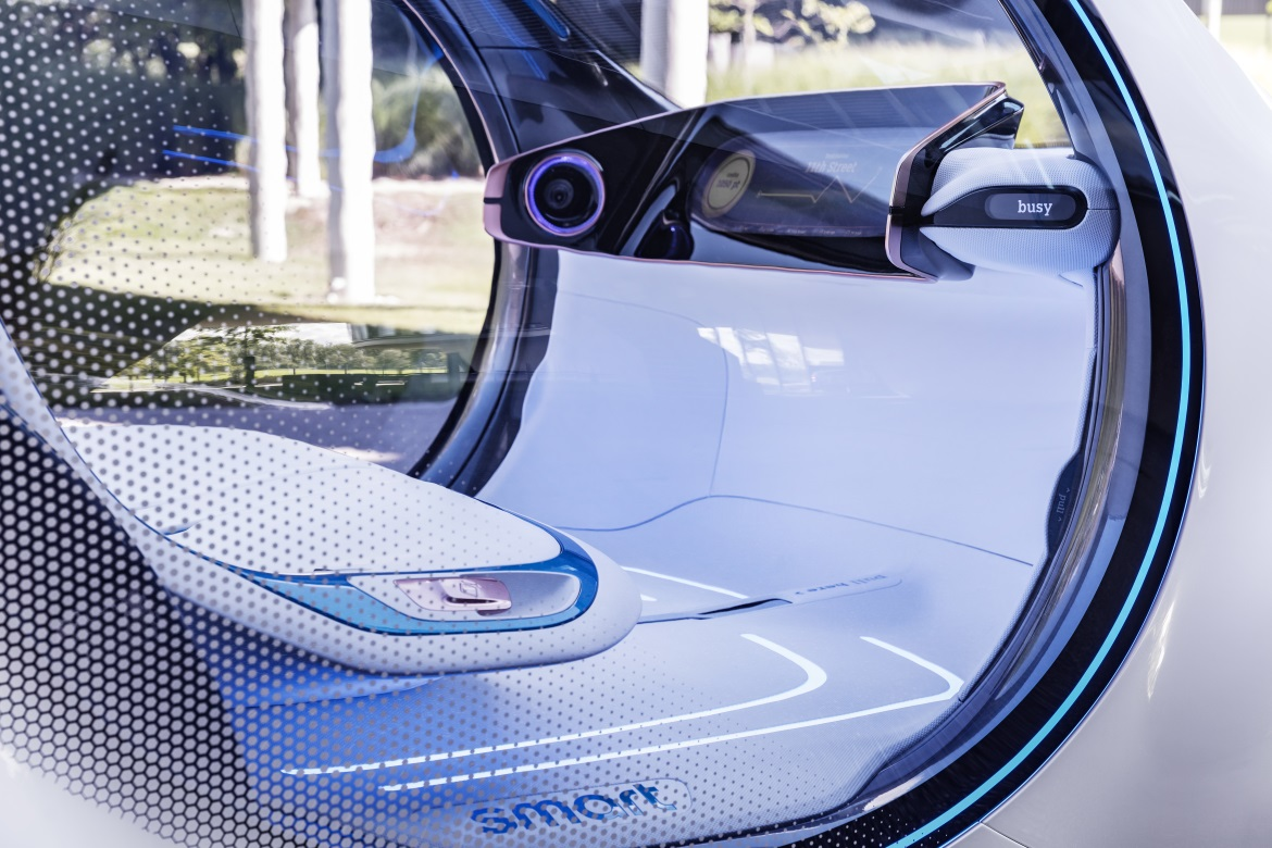 smart vision eq fortwo electric connected and autonomous. Black Bedroom Furniture Sets. Home Design Ideas