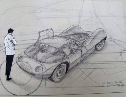 RON HICKMAN'S SKETCHES AT TRUST MOTOR MUSEUM