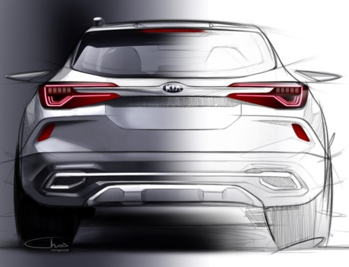KIA'S NEW SUV FIRST SKETCHES