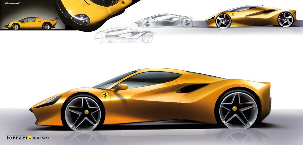 Ferrari 488 Gtb Sculptural Heritage Auto Design