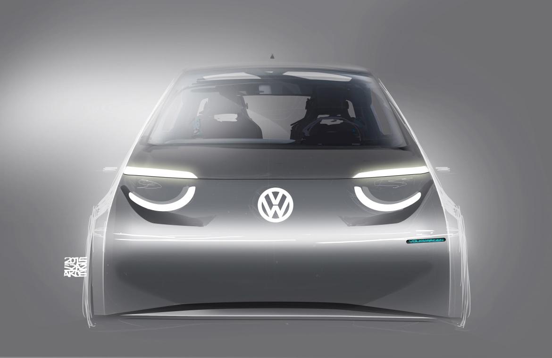 Volkswagen ID.3 sketch frontale
