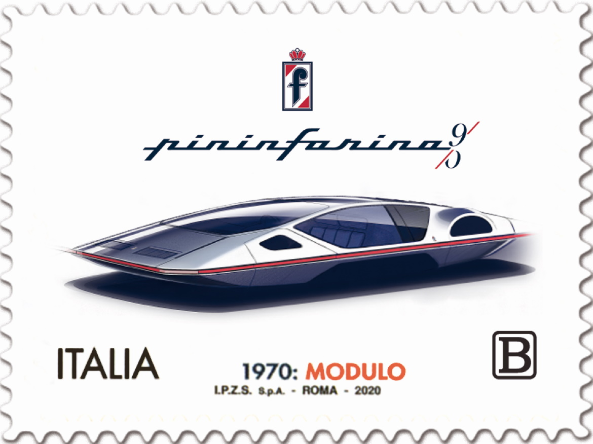 PININFARINA, A STAMP TO CELEBRATE THE 90TH ANNIVERSARY