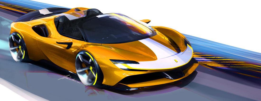 Ferrari Sf90 Spider Hybrid Spaceship Auto Design