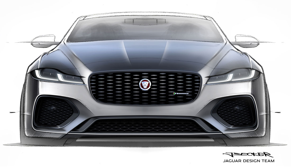 Jaguar Design, XF front skecht