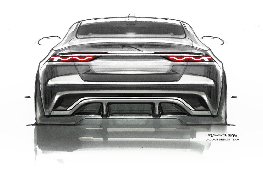 Jaguar Design, XF rear skecht