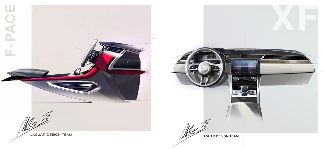 Jaguar Design, F-Pace interior sketches