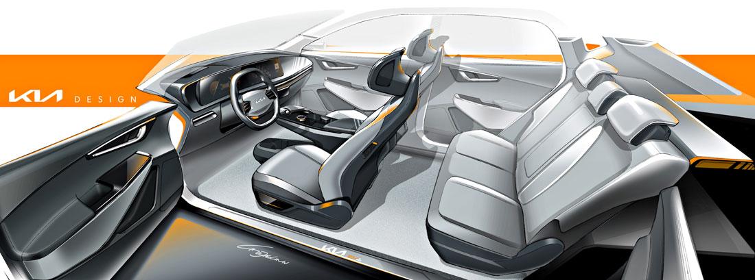 Kia EV6 interior design