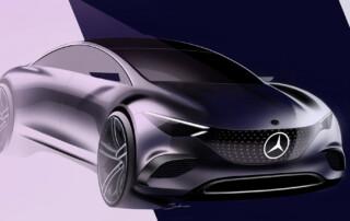 Mercedes-Benz EQE Front Sketch