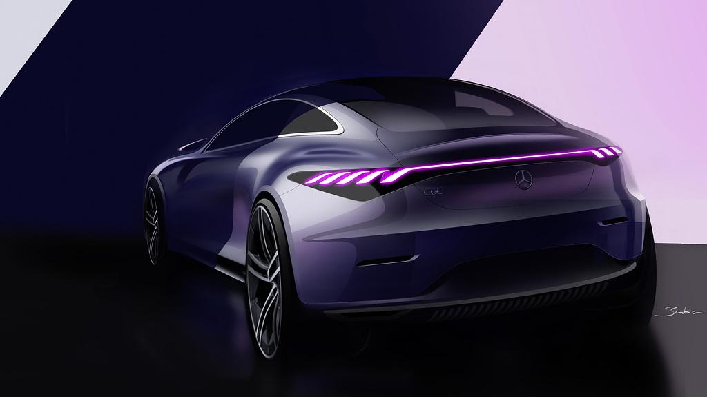 Mercedes-Benz EQE Rear Sketch