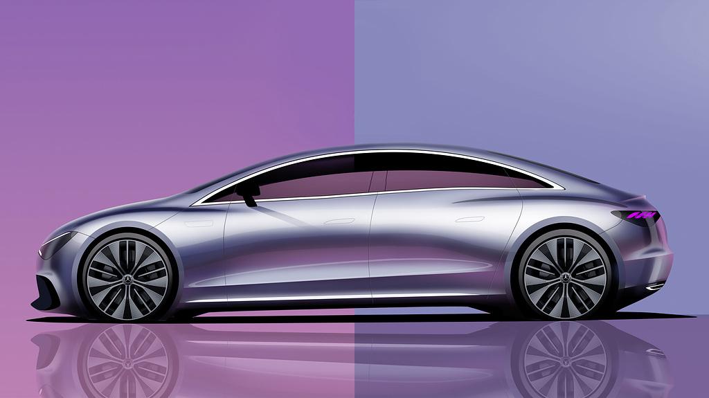 Mercedes-Benz EQE Side Sketch